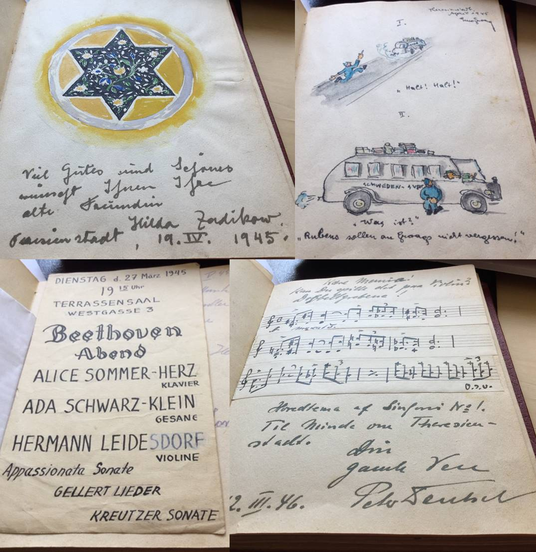 Teresienstadt Autograph Book Pages