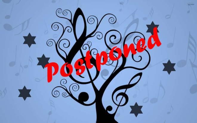Niggunim postponed